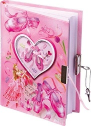 Small Foot Lockable Diary with Ballet Shoes Motif