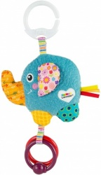 LAMAZE Mini Eloy the Elephant Baby Toy, Clip On