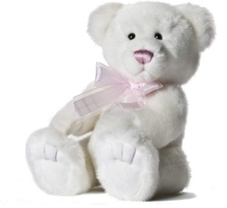 Aurora World 11'' Icicle Bear with Ribbon (Pink)