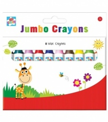 Kids Create Jumbo Wax Crayons (8 Pack)