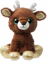Aurora World Christmas Jingle Reindeer Sparkle Tales Brown 12''