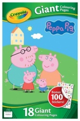 NEW Crayola Peppa Pig Giant Colouring Pages
