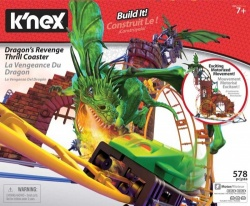 NEW K'nex Dragon Revenge Roller Coaster