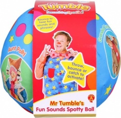 NEW Mr Tumbles Fun Sounds Spotty Ball