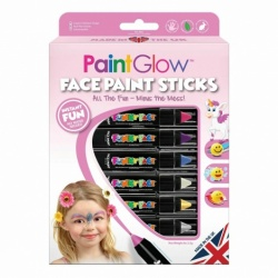 PaintGlow Pro Face Paint Stick Fantasy Princess Boxset