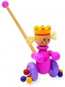 Small Foot ''Queen'' Pushing-Toy Pull-Along Toys