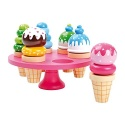 Wooden Waffle Ice Cream with Display Stand