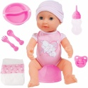 Bayer Design Piccolina New Born Baby Doll, Soft Pink, 40 cm