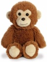 Aurora World Cuddly Friends Monkey Plush Brown, 8''