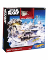 Hot Wheels Star Wars Snowspeeder Hoth Echo Base Battle Playset