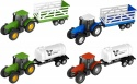 Teamsterz Tractor & Trailer Farm Playset - one random colour supplied